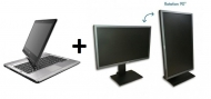 Pachet - Fujitsu Lifebook T902 Convertible+ Monitor - Acer B243 24 inch Silver