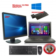 Pachet 7 Laptop Lenovo + Monitor 24 inch + DockStation complet (include windows 10 PRO)