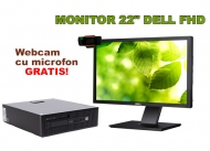PC+ Monitor 22 INCH + Webcam - HP ProDesk 600 G1 cu Dell P2211HT LED 22 inch Full HD